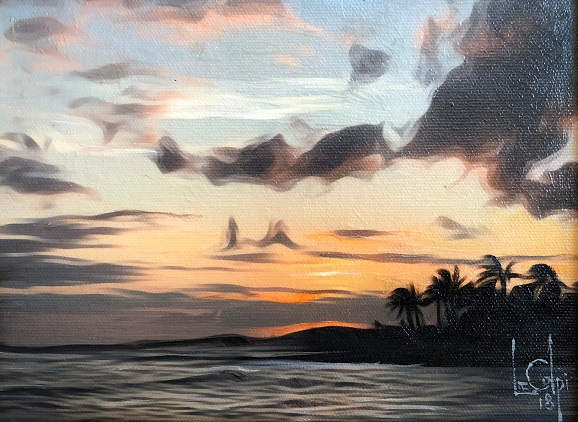 Sorry, a visual representation of Lee Colpi's work entitled, Maui Sunset failed to load.  Please try again later or contact Lee Colpi for more information about this work.