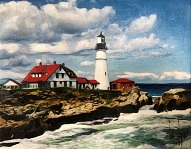 larger image of the work, Portland Headlight Lighthouse